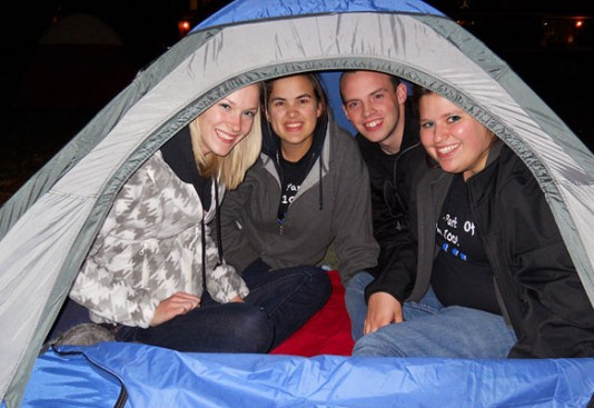 Sleep Out on the Quad