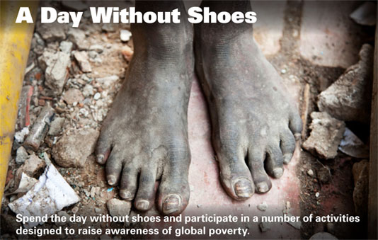 A Day Without Shoes at Aurora University