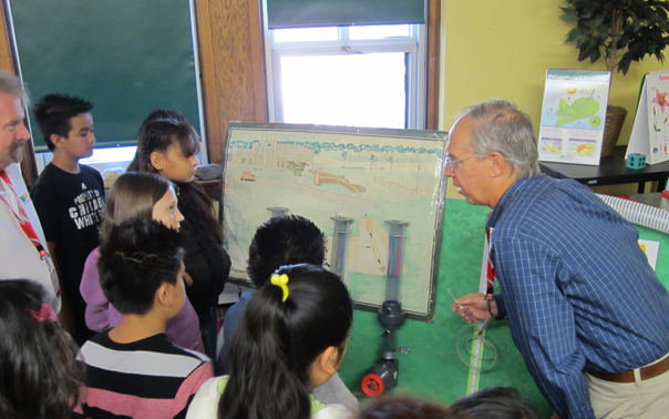 Bill Schubert, Waste Management's Director of Disposal Operations – Midwest, works with STEM students