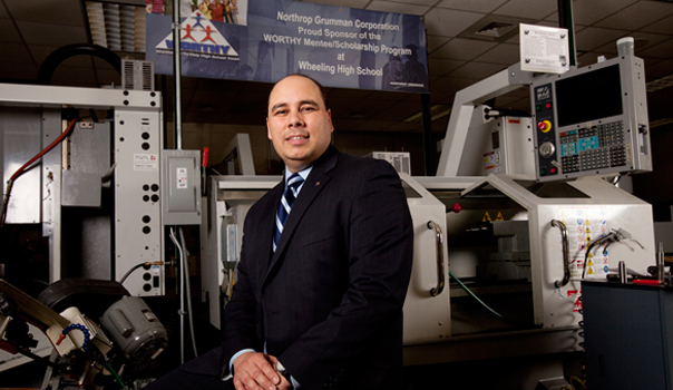 Lazaro Lopez, Ed.D. '10, led a STEM-focused curriculum overhaul in 2010 as the new principal of Wheeling High School.