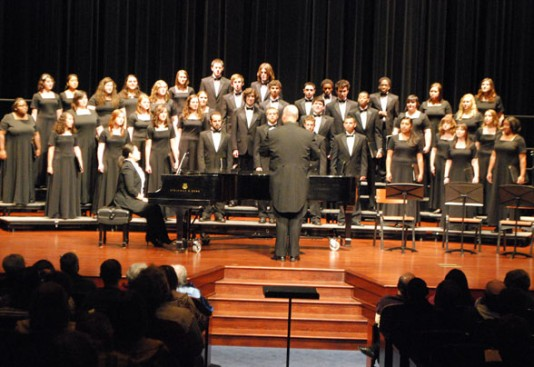 The Aurora University Choirs will perform the 2012 spring concert with the Fox Valley Orchestra and Chorus.