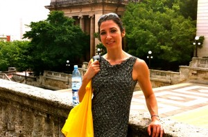 Kristie Brendel, Assistant Professor of Social Work, takes time to enjoy Cuba during a delegation trip she was selected=