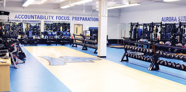 Aurora University Strength and Conditioning Facility