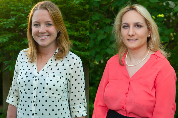 Master of Science in Accountancy alumni Lindsay McGoldrick and Vicky Sheers