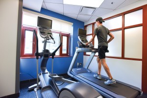 Centennial Hall is one of the new locations for fitness centers throughout the campus.
