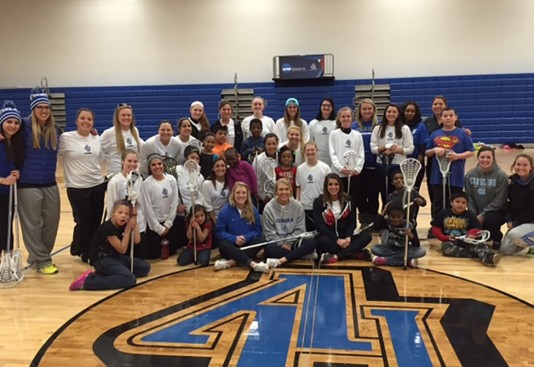 Aurora athletes were  recently recognized for their community service work with Hesed House, a homeless shelter in Aurora.